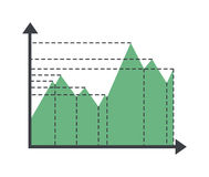 Graph elements vector illustration Royalty Free Stock Image