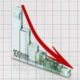 Graph euro Royalty Free Stock Photo