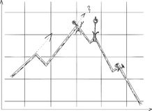 Graph failure Stock Image