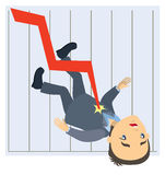 Graph falls down Royalty Free Stock Photo