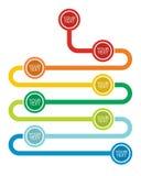 Graph and flow diagram Stock Photos