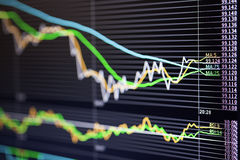 Graph of foreign exchange market Stock Image