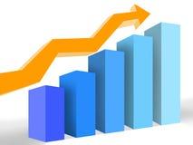 graph framgång royaltyfria bilder