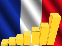 Graph and French flag Stock Images
