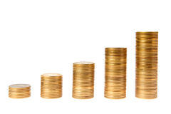 Graph From Money Royalty Free Stock Image