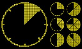 Graph gauges. Graph gauges is luminosity tiles. Vector illustration. Yellow on black background Royalty Free Stock Photography