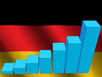 Graph and German flag Stock Photography