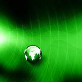 Graph with globe  on abstract  background Royalty Free Stock Image