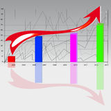 The graph in gradient background Royalty Free Stock Photos