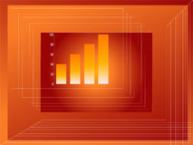 Graph growth. Background Royalty Free Stock Photos
