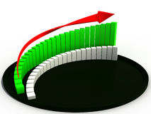 The graph of growth in the black hat №1 Stock Photos