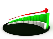 The graph of growth in the black hat №2 Stock Images