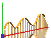 The graph of the growth curve №2 Royalty Free Stock Photos