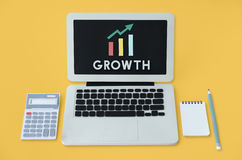 Graph Growth Development Improvement Profit Success Concept Stock Photos