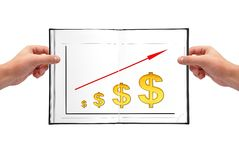 Graph of growth Royalty Free Stock Image