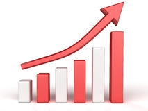 The graph of growth of red and white boxes №1 Stock Photos