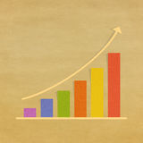 Graph on grunge background Royalty Free Stock Images