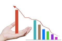 Graph hand Stock Image