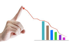 Graph hand Royalty Free Stock Image