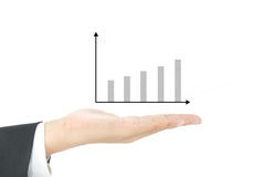 Graph on hand Royalty Free Stock Photos