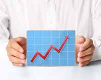 Graph in hand Royalty Free Stock Photos