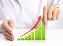Graph in hand, businessmen. Graph in the  hand, businessmen Stock Images