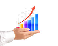Graph in the hand Stock Images