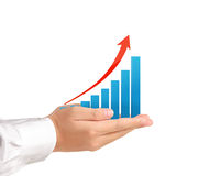 Graph in the hand Royalty Free Stock Image