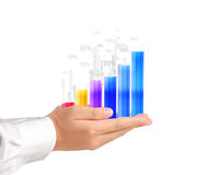 Graph in the hand Stock Photography