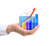 Graph in the hand Royalty Free Stock Photo