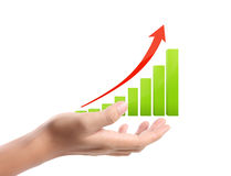 Graph on hand Royalty Free Stock Image