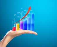 Graph in  hand Stock Photography