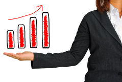Graph on hand women Stock Images