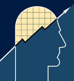 Graph Head Royalty Free Stock Images