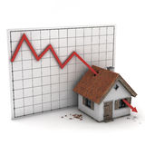 Graph house arrow Stock Images