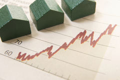 Graph with houses Stock Images