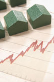 Graph with houses Royalty Free Stock Image