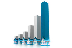 Graph of the housing market Royalty Free Stock Photos