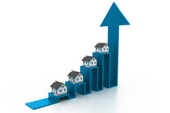 Graph of the housing market Stock Photography