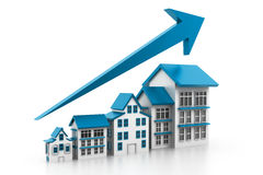 Graph of housing market Stock Images