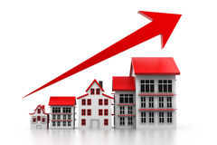 Graph of housing market Royalty Free Stock Photos