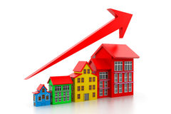 Graph of housing market Stock Photography