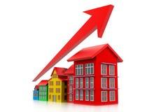 Graph of housing market Stock Photo