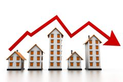 Graph of the housing market Royalty Free Stock Image