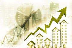Graph of the housing market stock illustration