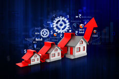 Graph of the housing market Stock Images