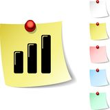 Graph  icon. Stock Photography