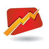 Graph icon Stock Image