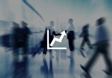 Graph Icon Arrow Agreement Business Corporate City Concept Royalty Free Stock Images