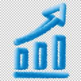 Graph icon. Business analytics chart sign vector Eps10. stock illustration